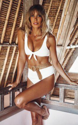 Del Mar Swim Top in White
