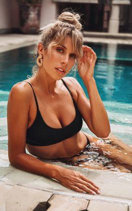 Bayside Swim Top in Black