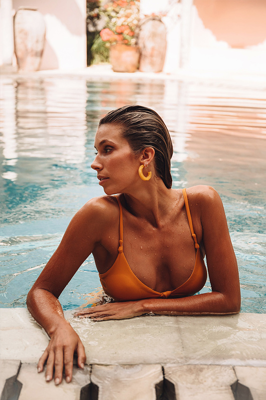 Hermosa Swim Top in Mustard