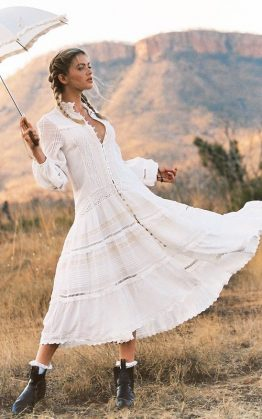 Hanging Rock Gown in White