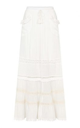 Hanging Rock Maxi Skirt in White