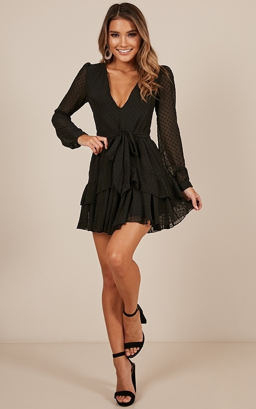 For A Rainy Day Dress In Black