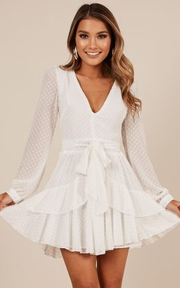 For A Rainy Day Dress In White