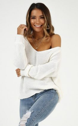 I Turn To You Knit Top In Cream