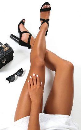Showpo X Billini - Jaxon Heels In Black Micro