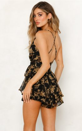 Addison Playsuit in Black