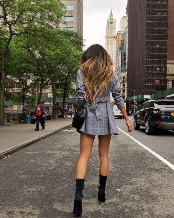 A Girls Dream Blazer In Grey Check