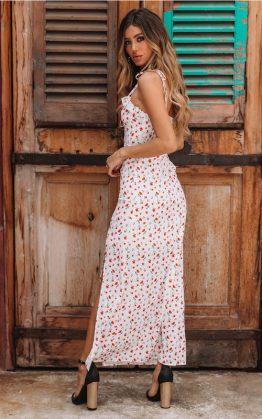 Allesandro Maxi Dress in White