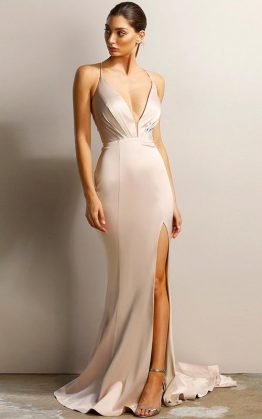Athena Gown by Jadore in Nude