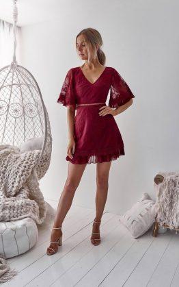 Jennie Dress in Maroon