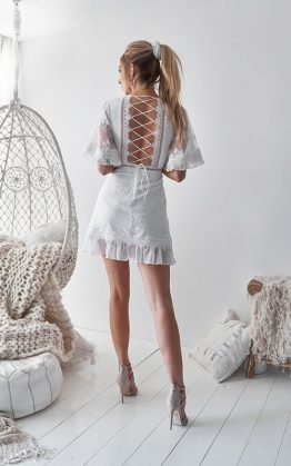 Jennie Dress in White