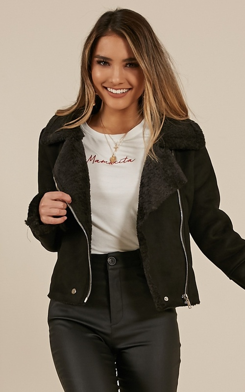 Home With You Jacket In Black