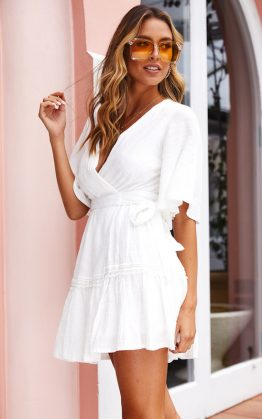 Texas Stranger Dress in White