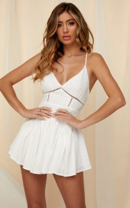 Upton Playsuit in White