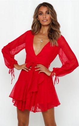 Like Me For Me Dress in Red