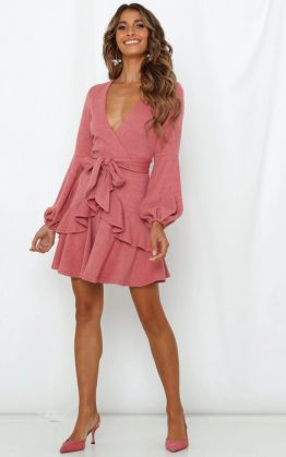 Leap Of Faith Dress in Rose