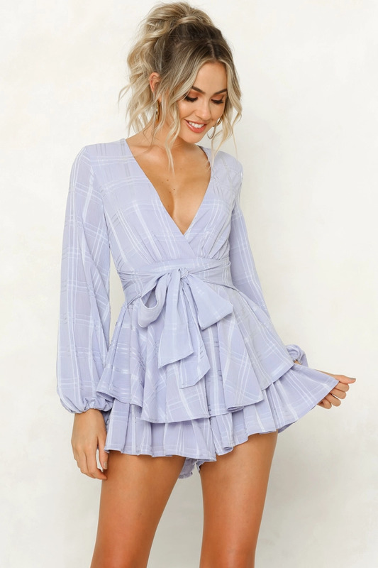 Must Be Lonely Now Playsuit in Lavender