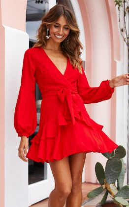 Get Your Shine On Dress in Red