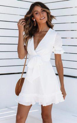 Mariana Dress in White