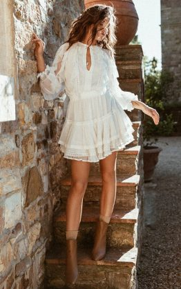 Grace Tulle Playdress in White