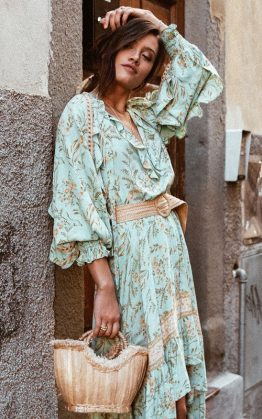 Maisie Skirt in Vintage Turquoise & Maisie Blouse in Vintage Turquoise