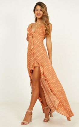 Within Distance Dress In Light Rust Spot
