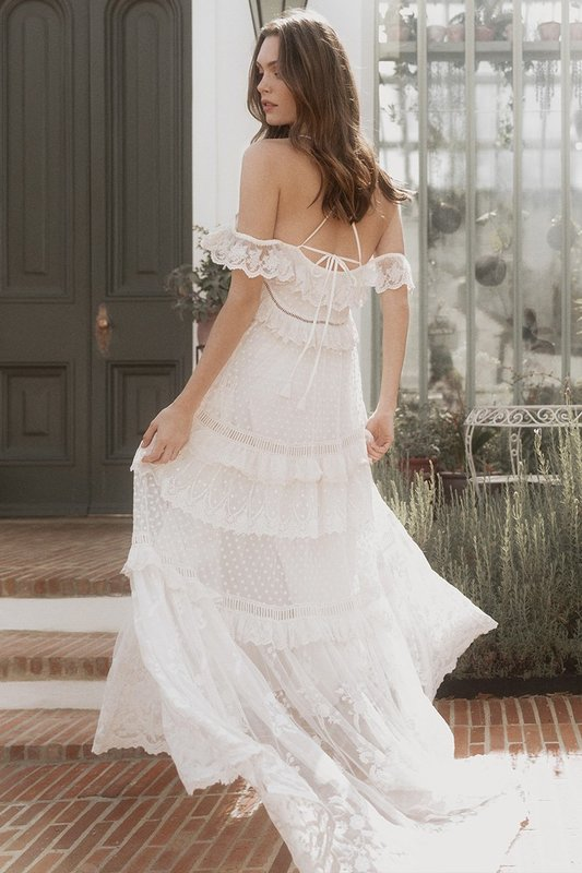 Chloe Gown in off-white