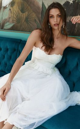 Zoe Tulle Gown in Off White
