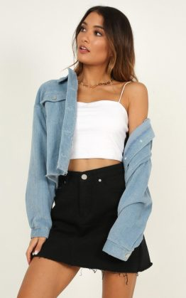 Hitting The Road Jacket In Blue Cord