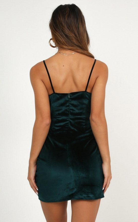 Beyond It Dress In Teal Velvet