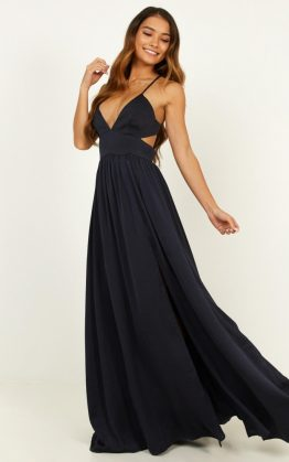 Time To Leave Dress in Navy