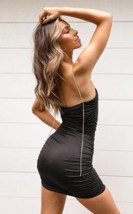 Im A Diamond Dress In Black Diamante