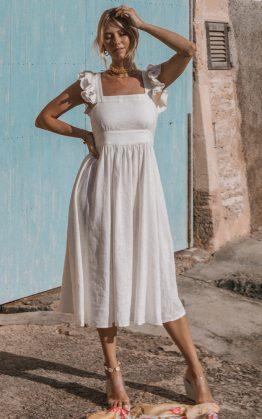 Darling Frill Sleeve Dress