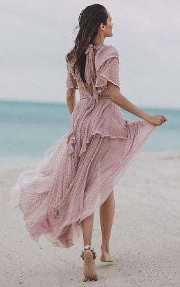 Zoe Gown in Rose