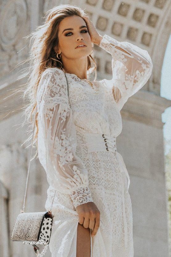 Dawn Lace Belted Midi Dress
