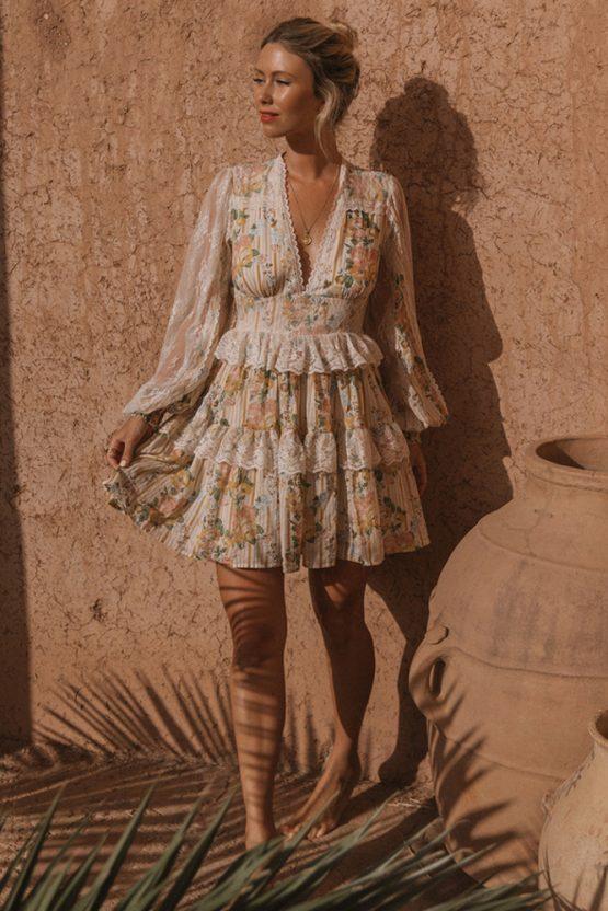 Garden Rose Mini Dress