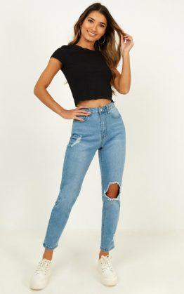 Bobbi Jeans In Blue Wash Denim