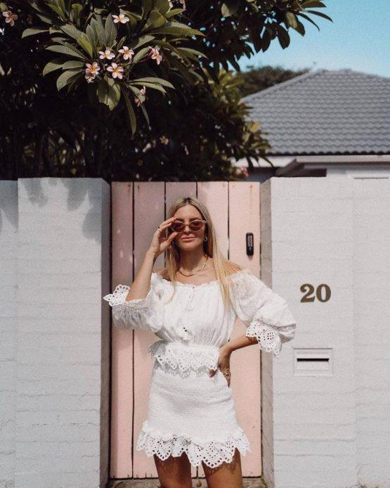 Daisy Chain Ruched Mini Dress