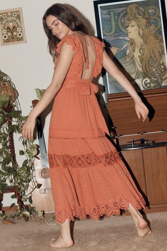 Daisy Chain Frill Maxi Dress