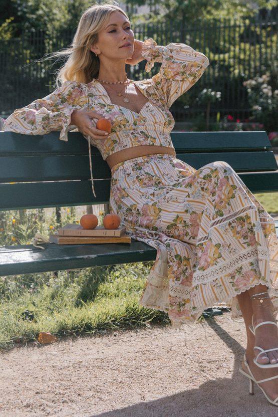 Garden Rose Maxi Skirt