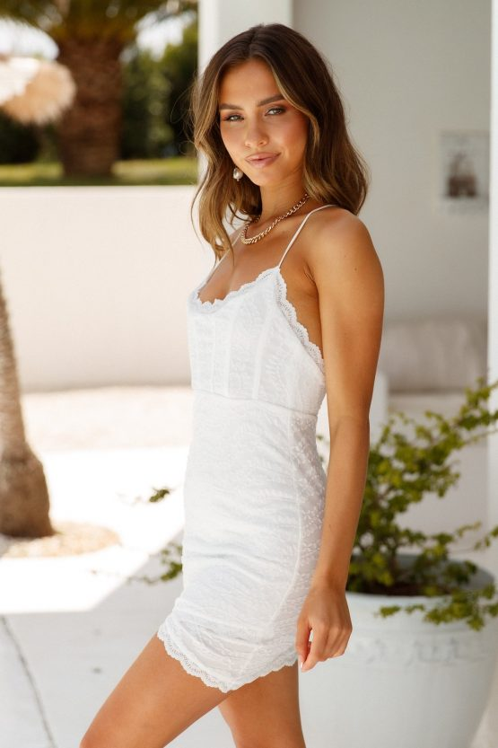 Not More Broken Hearts Dress in white